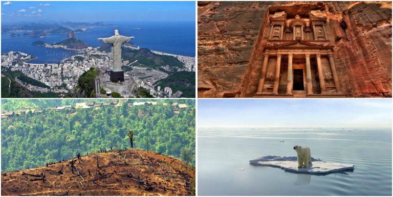 Hét hely a világon, ahol csodák vannak, és másik hét, amelyeket megérint a halál