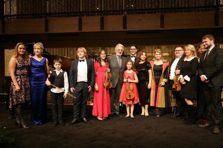 Plácido Domingo meglátogatta kedvenc virtuózait New Yorkban