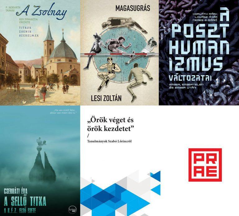 Öt új irodalmi kötettel érkezik a Prae Kiadó az Ünnepi Könyvhétre