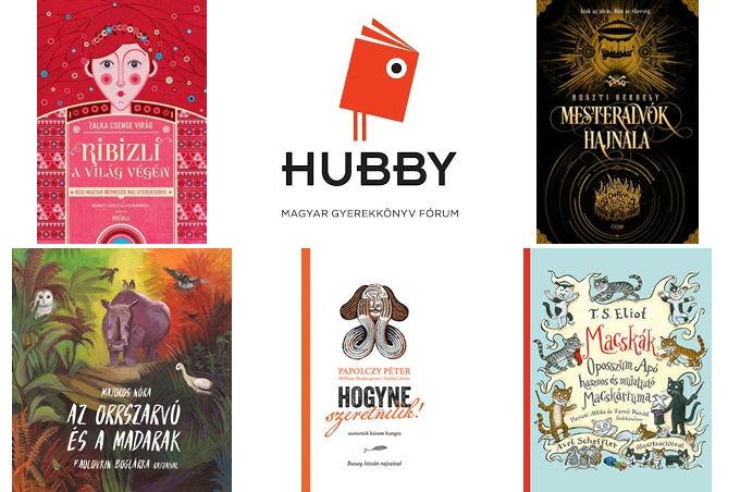 A HUBBY díjkiosztójának nyertes kötetei.