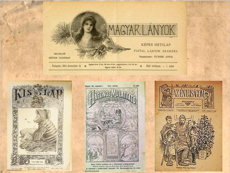 Népszerű gyereklapok a 19. században