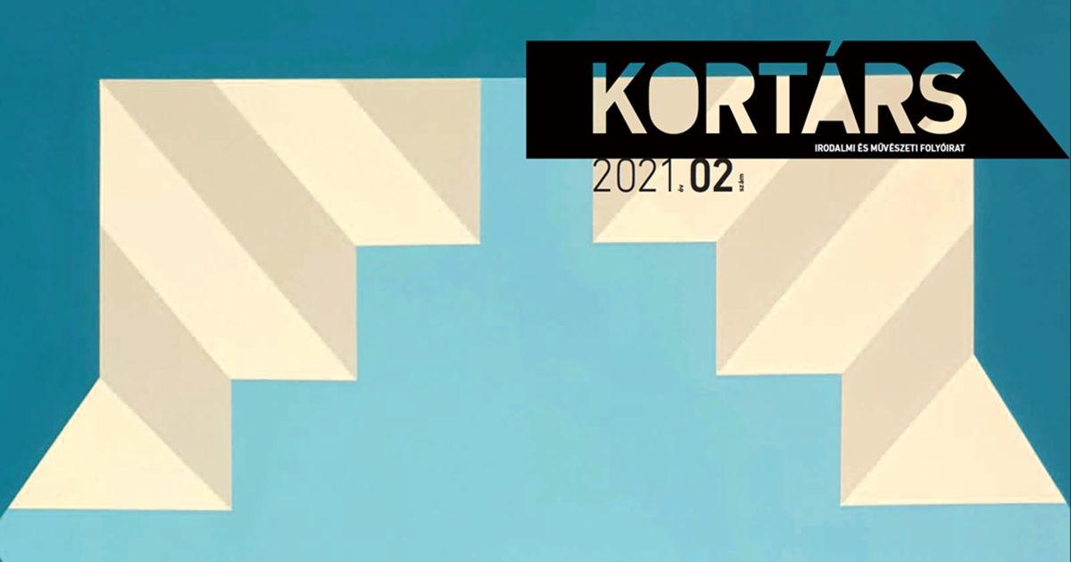 A Kortárs folyóirat 2021. februári számának borítója