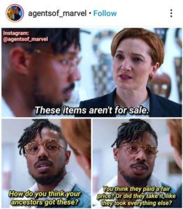 A kérdéskör a 2018-as Marvel-filmben, a Fekete Párducban is helyet kapott.