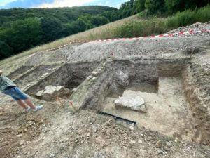 A pálos kolostor maradványainak ásatása