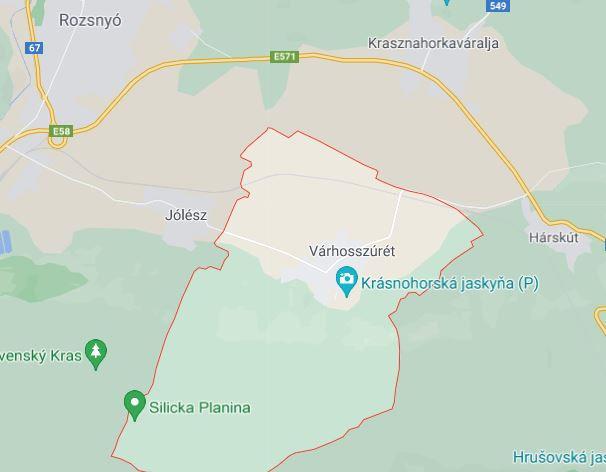 Térkép: a tábor helyszíne