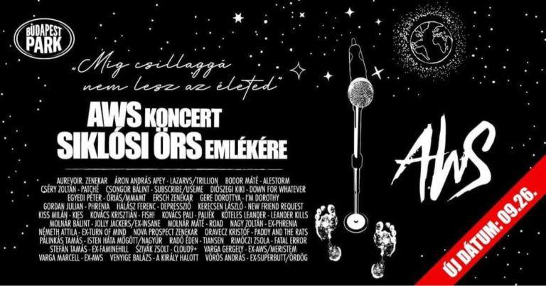 """""""Míg csillaggá nem lesz életed"""" – AWS koncert Siklósi Örs emlékére a Budapest Parkban"""